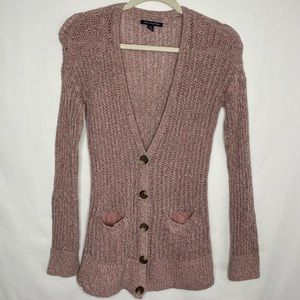 American Eagle Outfitters pink loose knit cardigan